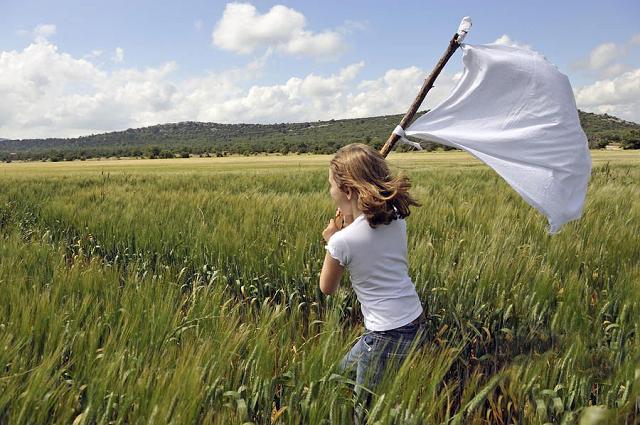 Bandera blanca de la paz