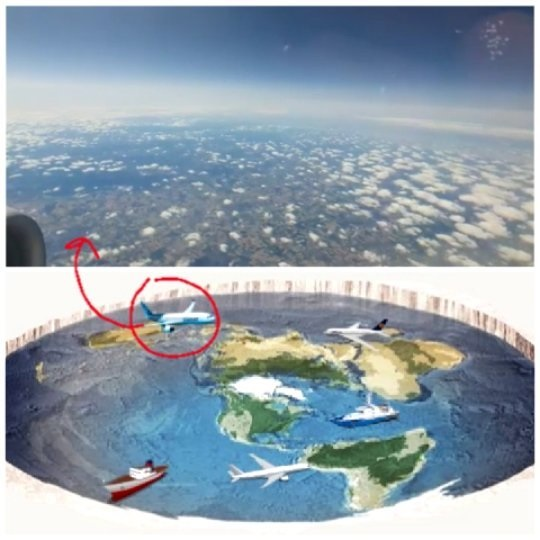 explicación de la tierra es plana