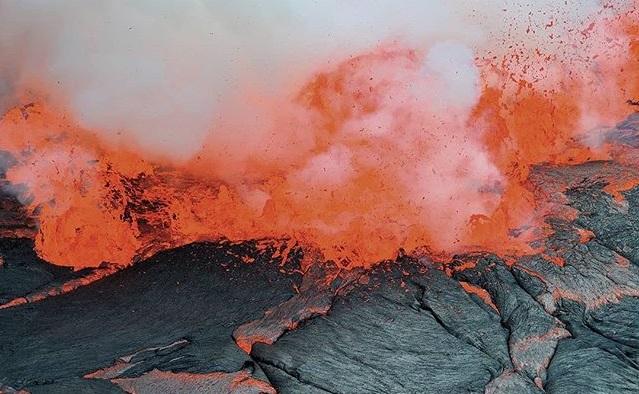 erupcion de un volcan