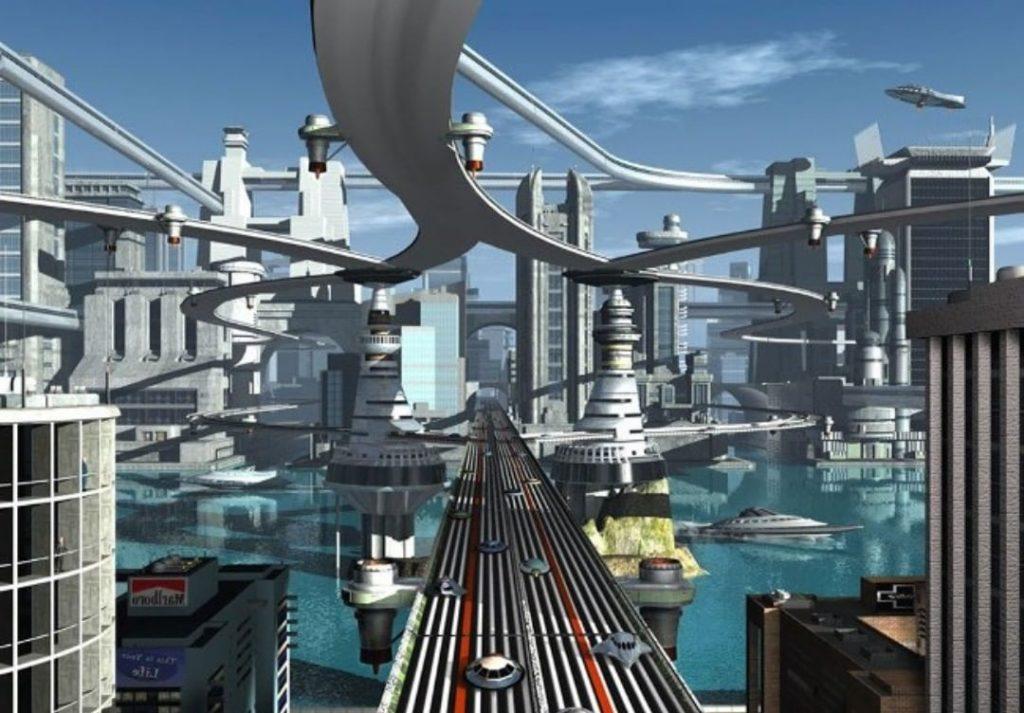 Ciudad futurista neom
