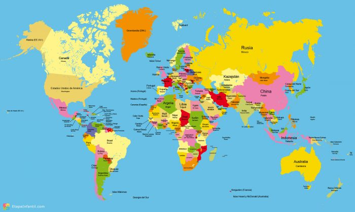Mapamundis más usados