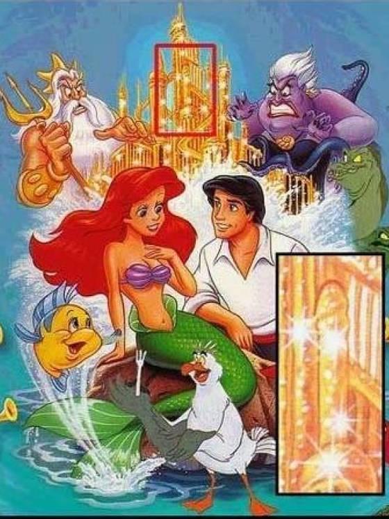 20 símbolos fálicos y mensajes ocultos en películas de Disney